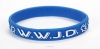Productafbeelding Armband blauw WWJD duif Silicone