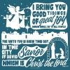 Productafbeelding Cadeaubord kerst vierkant 'Good tidings of great joy'
